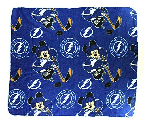 Northwest NHL Tampa Bay Lightning Mickey Maus Charakter Fleece-Überwurf, Blau, 50x 60-inches