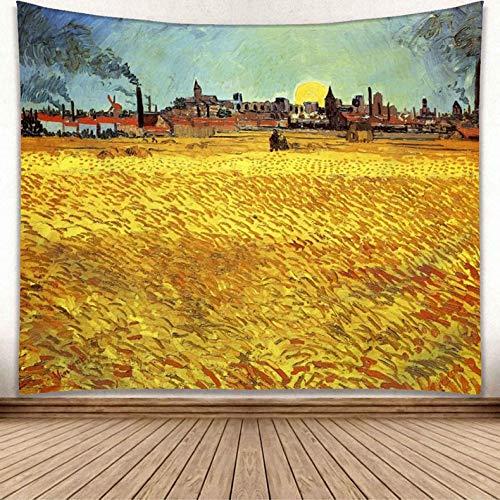 jtxqe Europäischen und Amerikanischen Wind New Moon Moonlight wandbehang malerei Serie Wohnzimmer Dekoration hängen Tapisserie GP15008 150 * 150