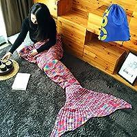 Coda da sirena Crochet Coperta Divano Letto caldo per adulti soggiorno, camera da letto, super morbido tutte le stagioni sacco coperte bags73