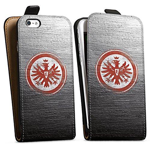 Apple iPhone 6 Hülle Silikon Case Schutz Cover Eintracht Frankfurt Fanartikel Vintage Downflip Tasche schwarz