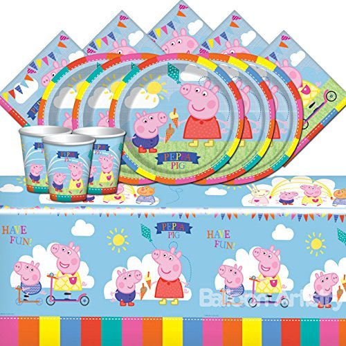 Entertainment One Bpwfa-104 Peppa Pig Set de Table pour 16