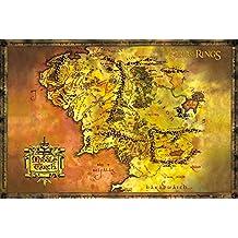 GB eye LTD, El Señor de los Anillos, Mapa Clasique, Maxi Poster, 61 x 91,5 cm