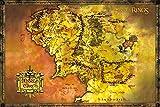 Lord of the Rings GB eye LTD, El Señor de los Anillos, Mapa Clasique, Maxi Poster, 61 x 91,5 cm