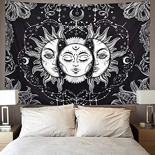 Bubinix Tapiz de Pared para Dormitorio, salón, Colgante, Indio, Bohemio, Cielo Estrellado, Mandala...