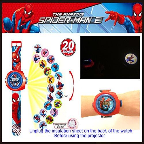 Spider Man Reloj de proyección digital 20 imágenes diferentes