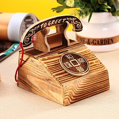 Kind fashion piggy bank creative telefone piggy bank holz piggy bank -A 120x140x115cm(47x55x45) Holz Piggy Bank