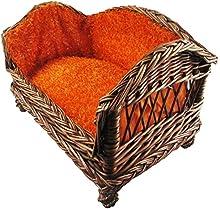Sofá de animal doméstico de mimbre de tejidos de madera para perros Cama de perro fresco de invierno caliente de madera de invierno , m