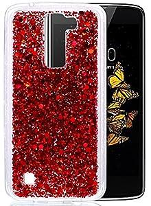 """LG K8 Coque, Coque LG K8, Protection LG K8, Nnopbeclik® Soft/Doux Silicone Transparente """"paillette brillant"""" Backcover Housse (5.0 Pouces) Antiglisse Anti-Scratch Etui"""