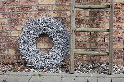 Großer Shabby Weidenkranz Kranz Moos Türkranz Wandkranz Ø 38 cm Naturkranz Landhaus von homeclassics bei Du und dein Garten