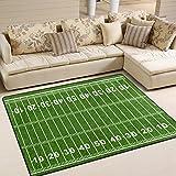 Naanle American-Football-Feld, Rutschfest, für Wohnzimmer, Schlafzimmer, Küche, 50x 80cm, 2x 2,6m Sport Yoga-Matte, Teppich, Teppich für Kinderzimmer, Multi, 120 x 160 cm(4' x 5')