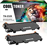 Cool Toner 2-Pack Kompatibel für Brother TN2320 Toner für Toner Brother MFC L2700DW MFC-L2700DN, Toner Brother HL L2340DW L2300D, Brother HL- L2360DN L2365DW DCP- L2520DW L2500D Toner