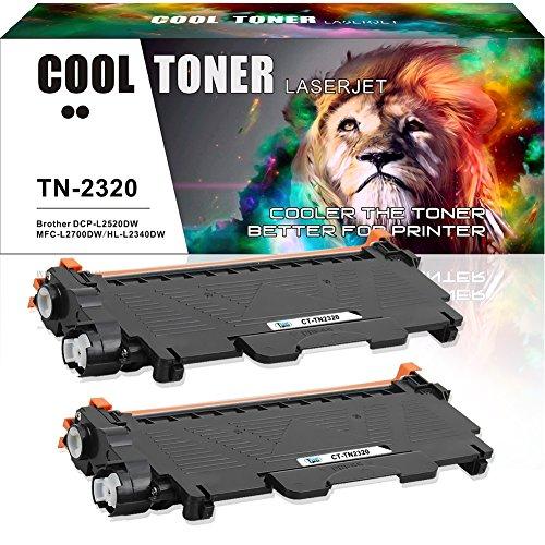 Cool Toner 2-Pack Kompatibel für Brother TN2320 Toner für Toner Brother MFC L2700DW MFC-L2700DN, Toner Brother HL L2340DW L2300D, Brother HL- L2360DN L2365DW DCP- L2520DW L2500D Toner