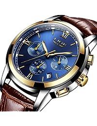 46936d698364 Amazon.es  Marrón - Relojes de pulsera   Hombre  Relojes