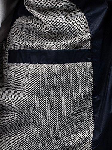 BOLF – Veste á capuche – Fermeture éclair – Motif – Homme 4D4 Bleu foncé
