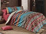 Parure de lit égyptienne 3 pièces Mandala exotique hippie Gypsy Nirvana Yoga cachemire Damassé Queen Housse de couette de luxe Oriental Vintage Vert Indien Ethnique Double Namaste Ayurveda Chakra
