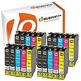 Bubprint 20 Druckerpatronen kompatibel für Epson T1631 - T1634 16XL WorkForce WF-2510 WF