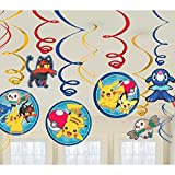Amscan 671859 Swirl Pokemon Core Dekoration Set