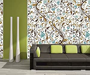 meSleep Floral Water Active Wall Paper - No Glue, Just Water