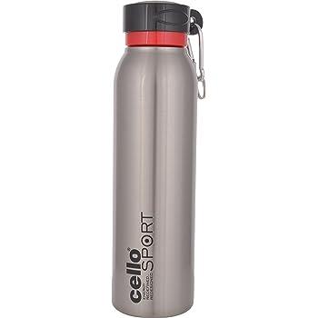 Cello Beatle Stainless Steel Sports Bottle, 550ml, Silver