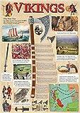 Vikings Educational Póster de historia–Papel laminado A0