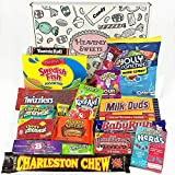 Cesta con American Candy | Caja de caramelos y Chucherias Americanas | Surtido de 18 artículos incluido...