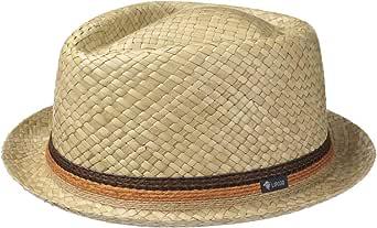 Lipodo Cappello di Paglia con Corona a rombo Donna/Uomo - Made in Italy - Berretto in 100% Paglia - Pork Pie per la Primavera/Estate - Cappello da Sole