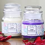 Brahmz® Glass Jar Scented Candles Pack of 2 Burning Capacity of Each Jar: 20 Hours Approx. (Lavender & Jasmine)