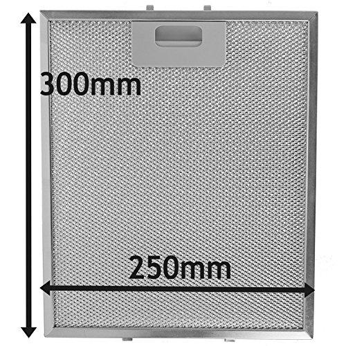 Spares2go Malla Metálica Filtro para Bosch Neff Siemens Campana extractora/extractor ventilación (plata,...