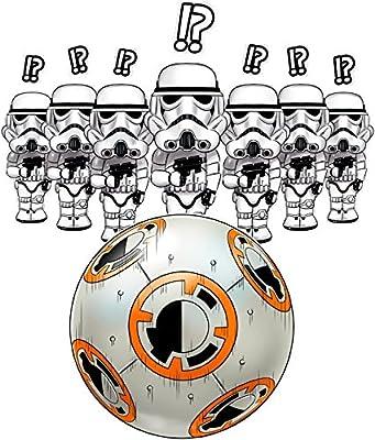 Sweat-Shirt à capuche Cinéma Culte - Parodie BB-8 et Stormtroopers de Star Wars - BB Bowling... - Sweat-shirt à Capuche Noir - Haute Qualité (824)