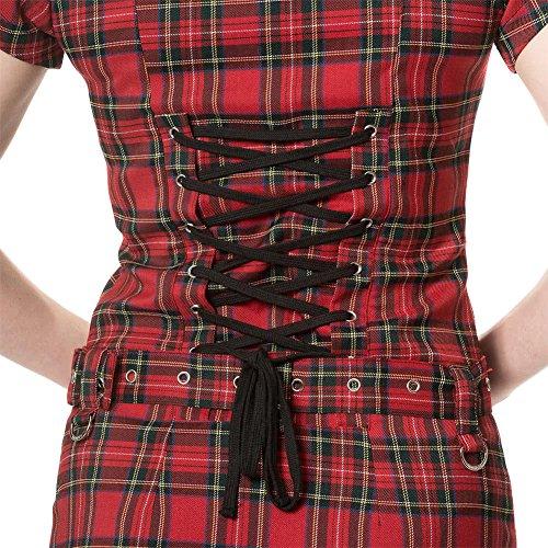 Banned Apparel -  Vestito  - fasciante - Donna Red Tartan