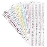 Strassstein Bordüren zum Basteln, selbstklebend, quadratische Schmucksteine, 10 Bogen | Glitzersteine, Kristalle zum Aufkleben
