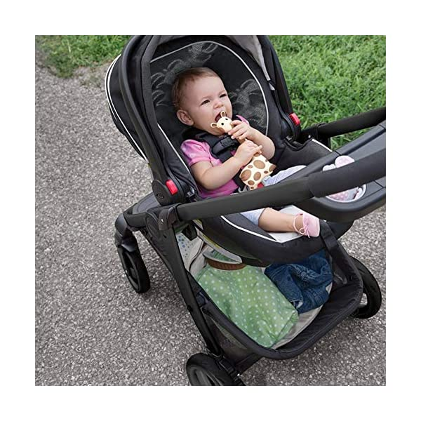 XUE Baby Stroller, Spacious High Landscape Trolley Shock Absorber Can Sit Reclining With Basket Travel System With Embrace XUE ∵ Wipeable and washable design for easier cleaning. ∵ Convertible high chair becomes booster and toddler seat. ∵ Keeps little ones secure with 3-point and 5-point harnesses. 2
