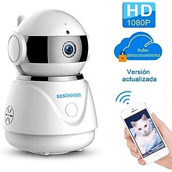 IP cámara WiFi,cámara IP Szsinocam cámaras de vigilancia wifi interior 1080P Servicio en la nube P2P IR Visión Nocturna Detección de Movimiento, Seguridad ...