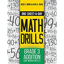 One-Sheet-A-Day Math Drills: Grade 3 Addition - 200 Worksheets (Book 5 of 24)