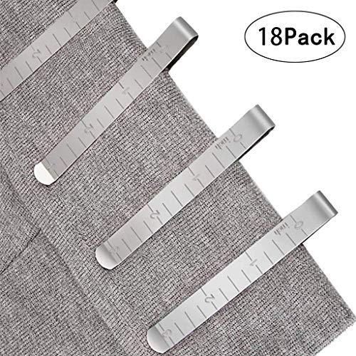 Dapei Klammer Nähzubehör Stoffklammern für Nähen, Metall Patchwork Buckle Multi-Use Nähmaschinenhelfer Kurzwaren, 11,5 x 7,5 cm, 18 Stück