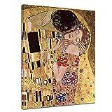 Bilderdepot24 Kunstdruck - Alte Meister - Gustav Klimt - Der Kuss - 60x80cm einteilig - Leinwandbilder - Bild auf Leinwand