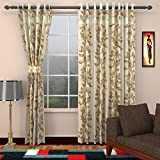Floral Curtains for Doors 2 Piece Polyes...