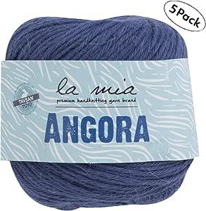 15/% Angora L125 Each 1.76 Oz // 136 Yrds Pink 50g 125m Light-Dk Premium Yarns 5 Ball La Mia Angora Wool Total 8.8 Oz