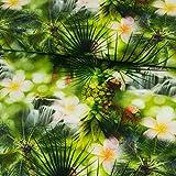 Baumwolljersey Digitaldruck Dschungelfieber grün
