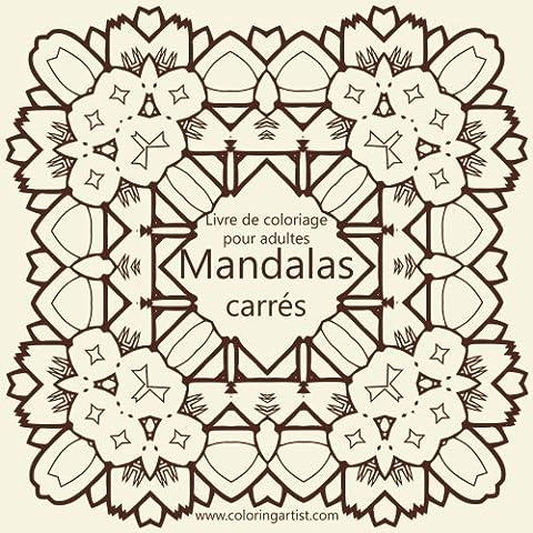Livre de coloriage pour adultes Mandalas carrés 1