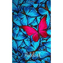 "Notebook: Hand Lettering Pocket Notebook : Daily Journal, Workbook, Notepad ( Size : 4.0"" x 6.5""). Lined Notebook: Notes, Sketching Pad, Creative ... Cover:Butterfly ( Notebooks and Journals)"