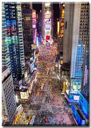 RENAISSANCE , New York Bild von Aurélien Terrible, Times Square New York , Kunstdruck mit Spotlack...