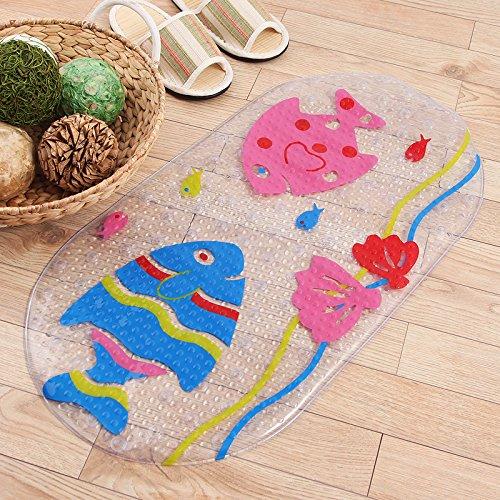 ZYZX Grüne unscented Badezimmer Badezimmer Badezimmer Teppiche Matten und Kunststoff wasserdicht Pad 71 * 38cm küssenden Fisch - Unscented Foam