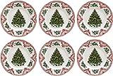 Johnson Bros viejo Bretaña castillos-rosa, de Navidad juego de platos llanos...