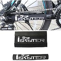 Set de 2ciclismo vainas Guardia cubierta de marco para bicicleta Protector de tubo bajo protección negro
