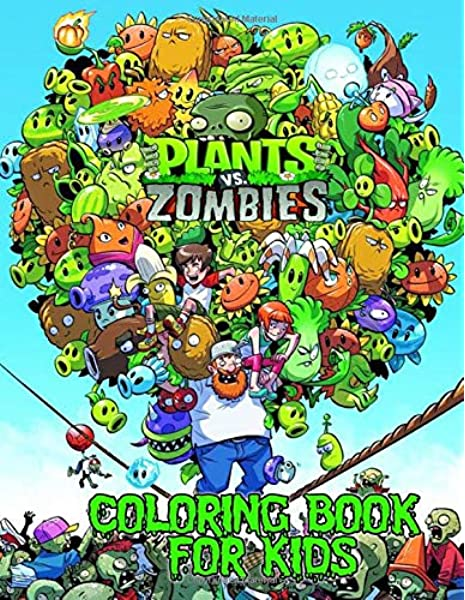 Amazon It Plants Vs Zombies Coloring Book Over 50 Funny Coloring Pages For Kids To Creative Morga Ricky Libri In Altre Lingue