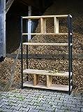 Regal aus Bauholz & Eisen Sinem 220cm