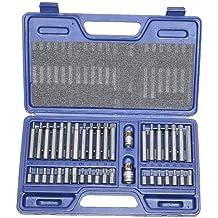 Maletín con 40 puntas de atornillar Torx (profesional, de 6 a 12 caras)