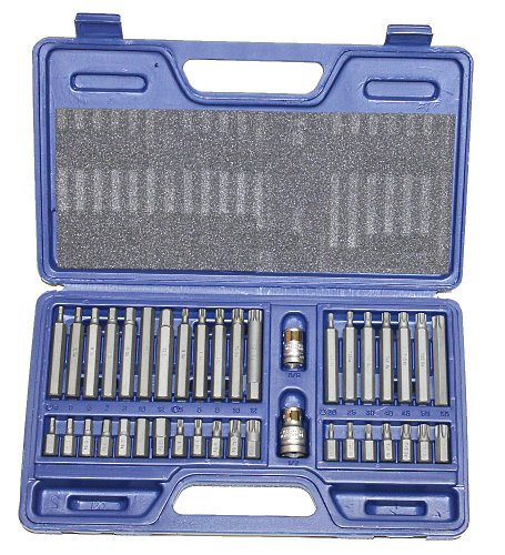AERZETIX: Juego de 40 puntas de atornillar profesional Torx, 6/12 caras alta calidad C3758