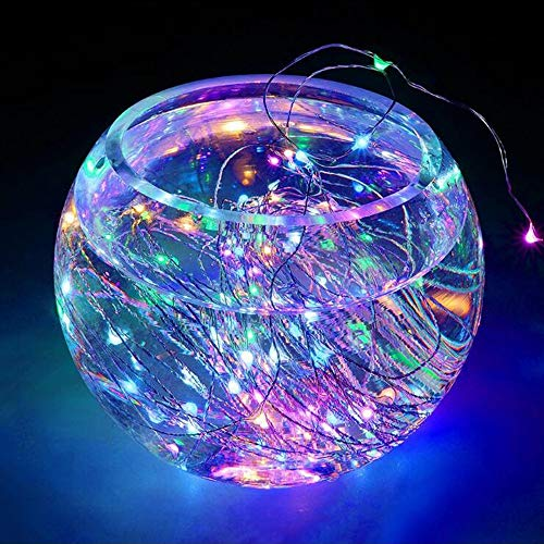 oor 10 Meter 100 LED Solar Kupferdraht String Licht Fairy Weihnachten Garten Lichterkette Dekoration (Mehrfarbig) ()